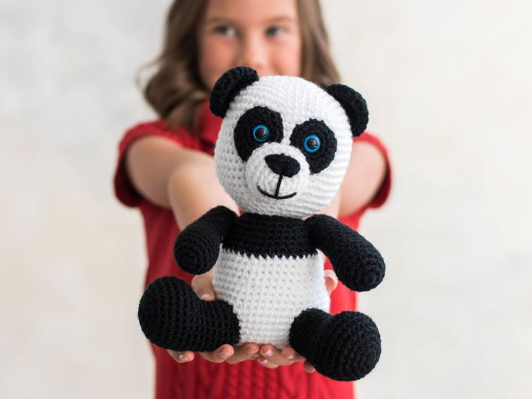 Panda Amigurumi Toy Bluprint Crochet Kit
