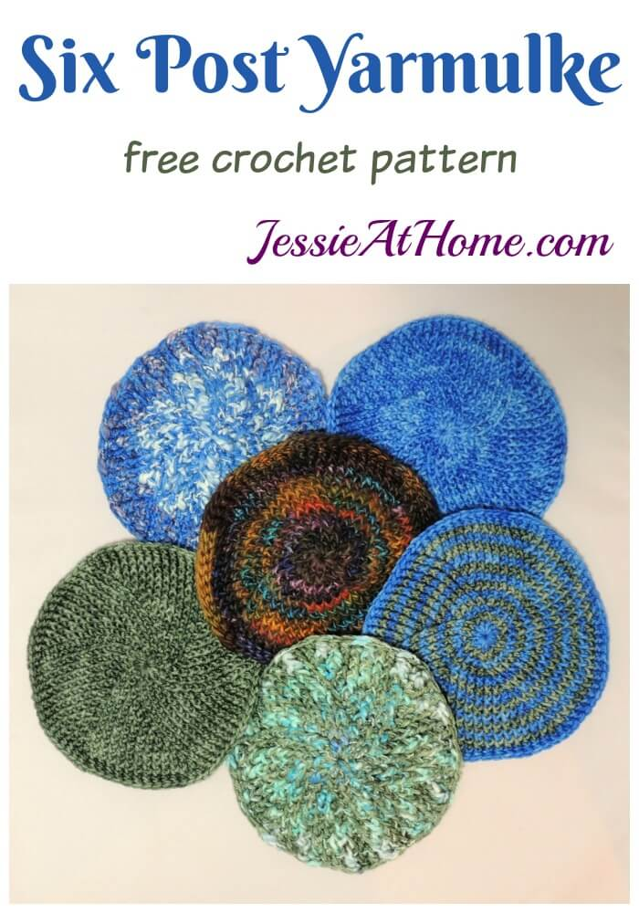 Six Post Yarmulke - free crochet pattern by Jessie At Home