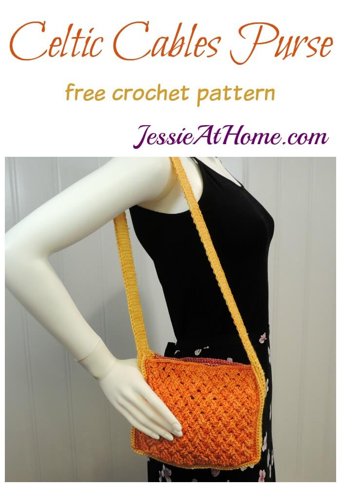 Celtic Cables Purse free crochet pattern by Jessie At Home