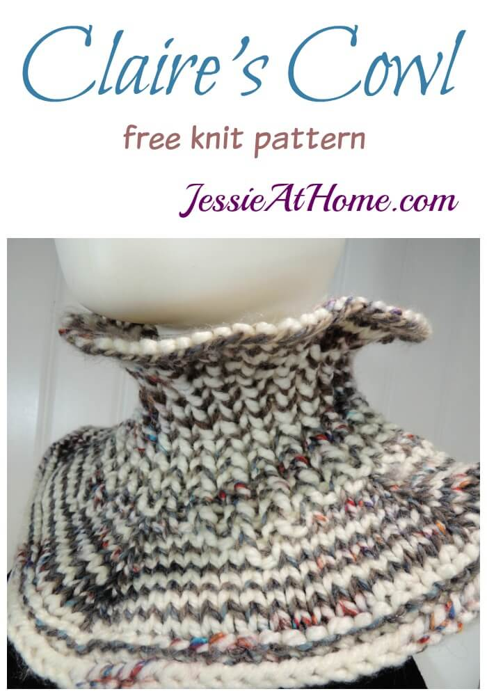 Claire's Cowl free knit pattern by Jessie At Home