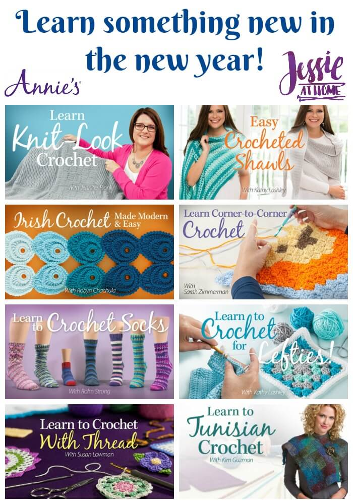 Learn something new in the new year with Annie\'s video crochet classes!