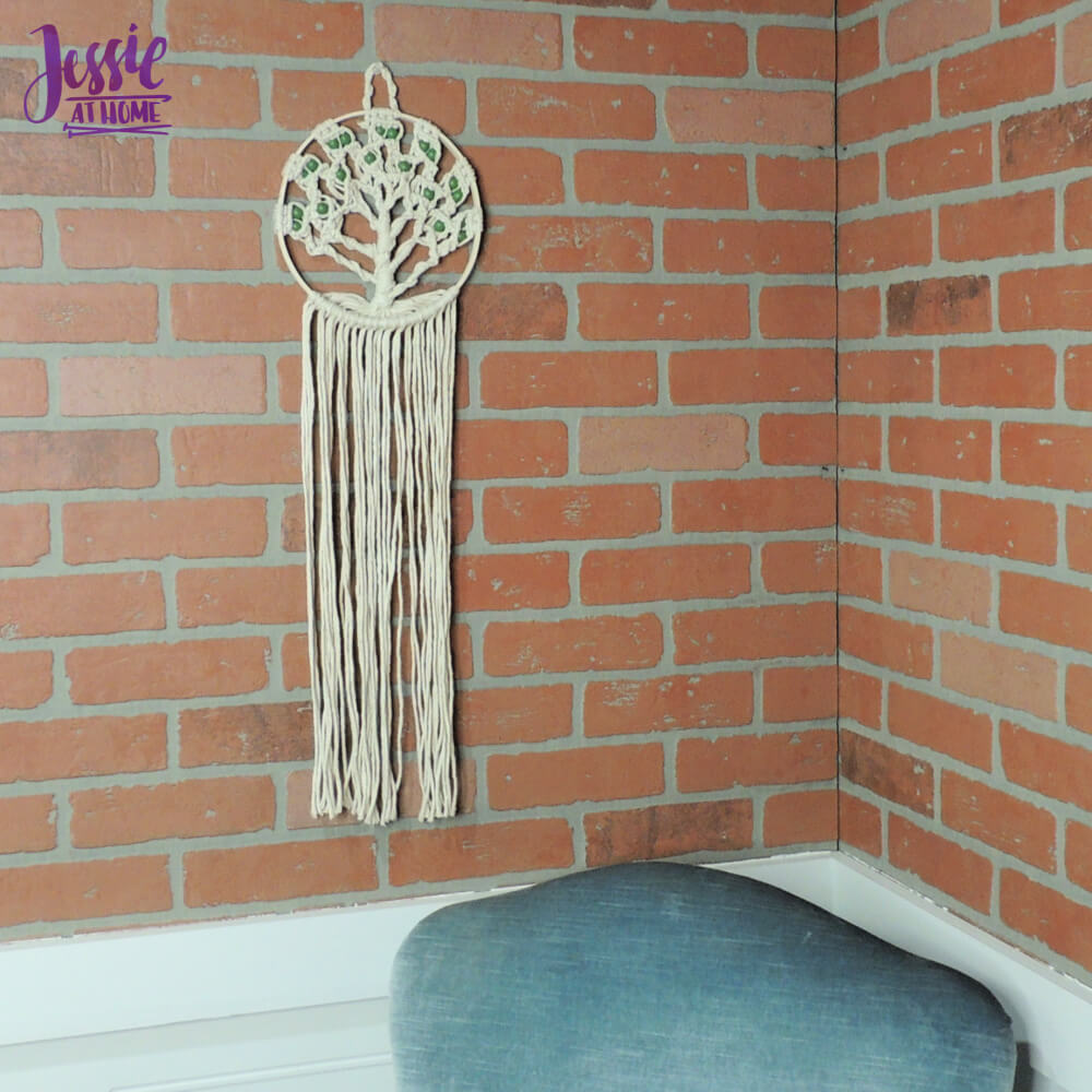Macrame Tree of Life craft kit review from Jessie At Home - long shot