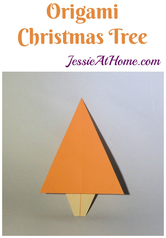 Origami Christmas Tree - makes a great, quick decoration or embellishment