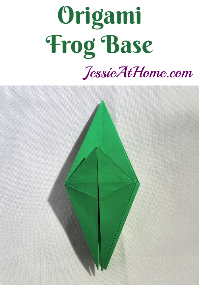 Origami Frog Base - written and pictorial tutorial