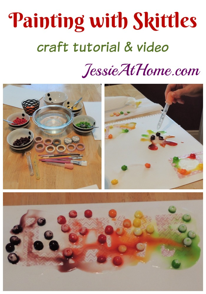 Painting with Skittles craft tutorial by Jessie At Home