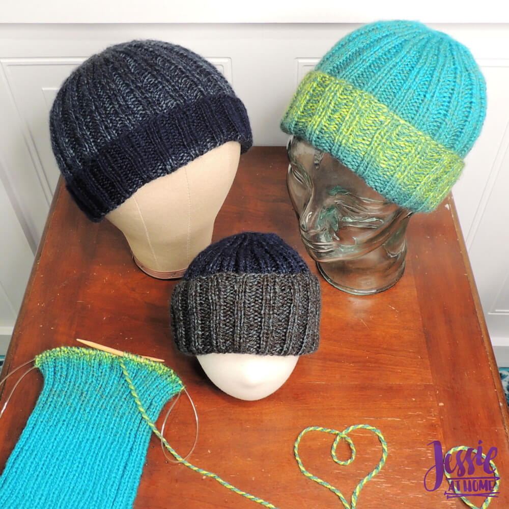 Ribbed Donation Hat free knit pattern by Jessie At Home - 1