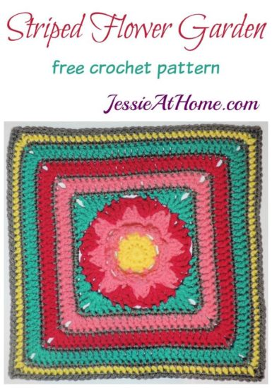 Striped Flower Garden - free crochet pattern by JessieAtHome