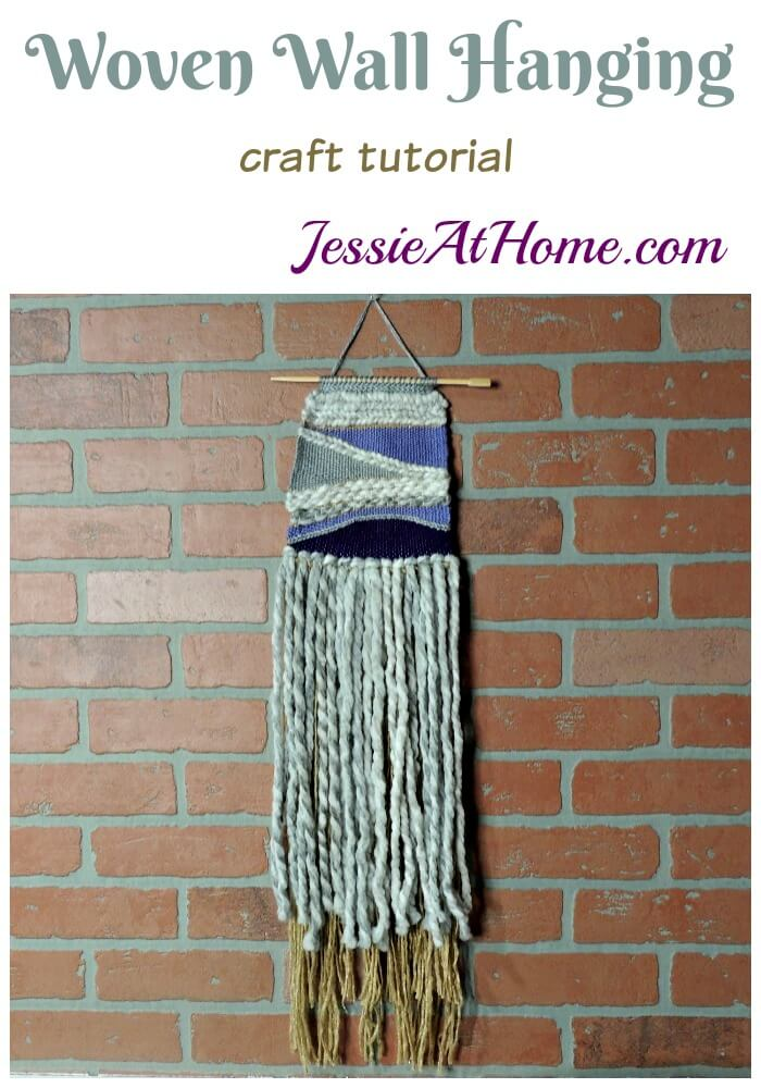 Woven Wall Hanging craft tutorial by Jessie At Home