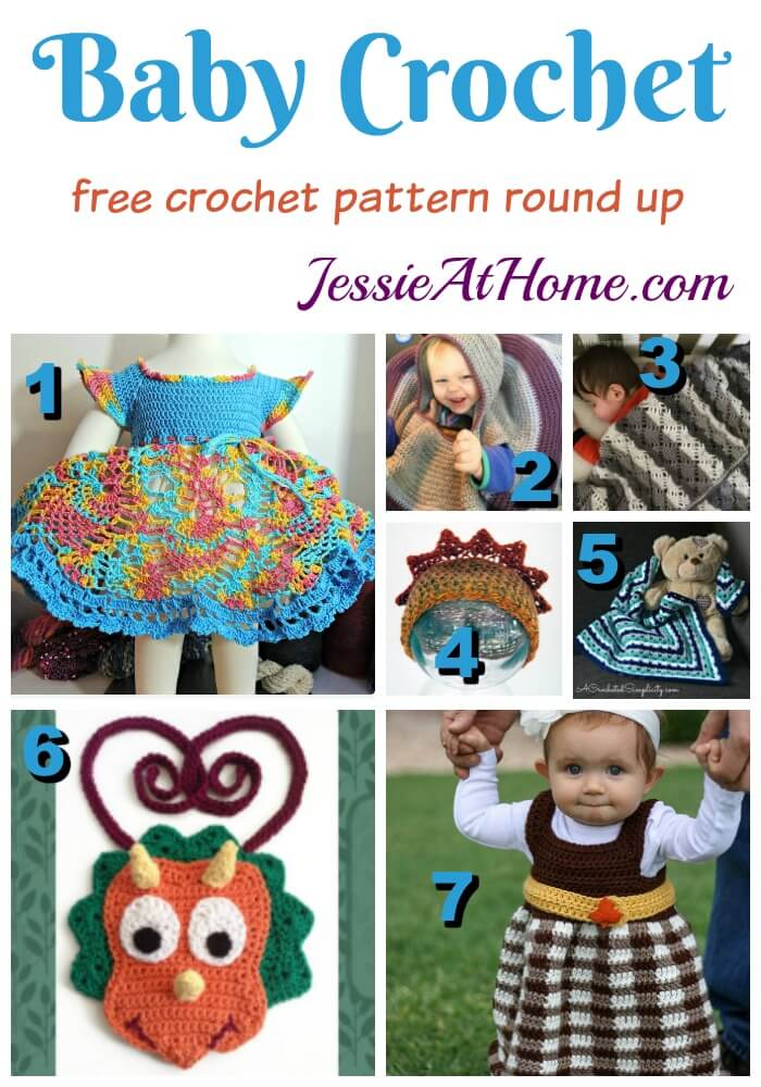 Baby Crochet free crochet pattern round up from Jessie At Home