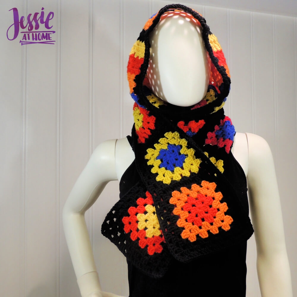 Granny's Hood free crochet pattern by Jessie At Home - 1