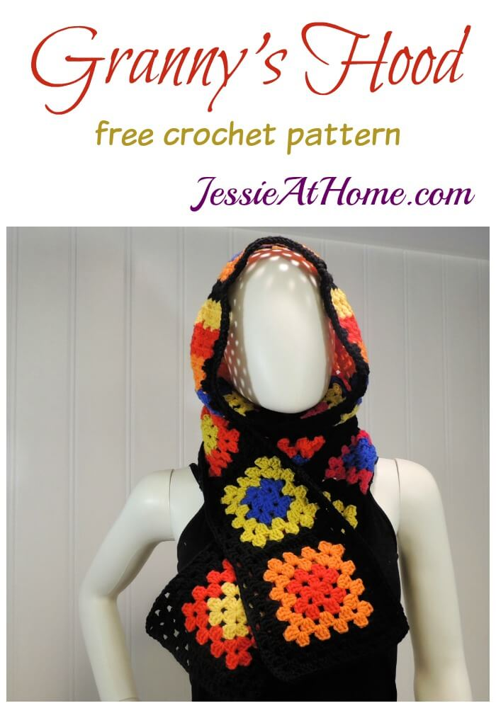 Granny's Hood free crochet pattern by Jessie At Home