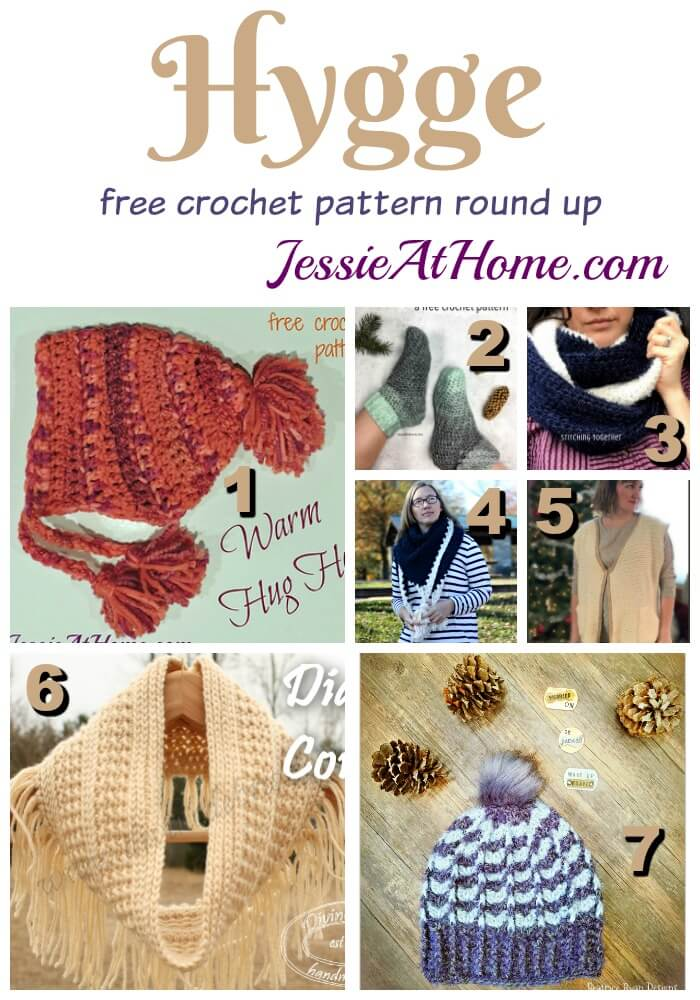 Hygge - free crochet pattern round up from Jessie At Home