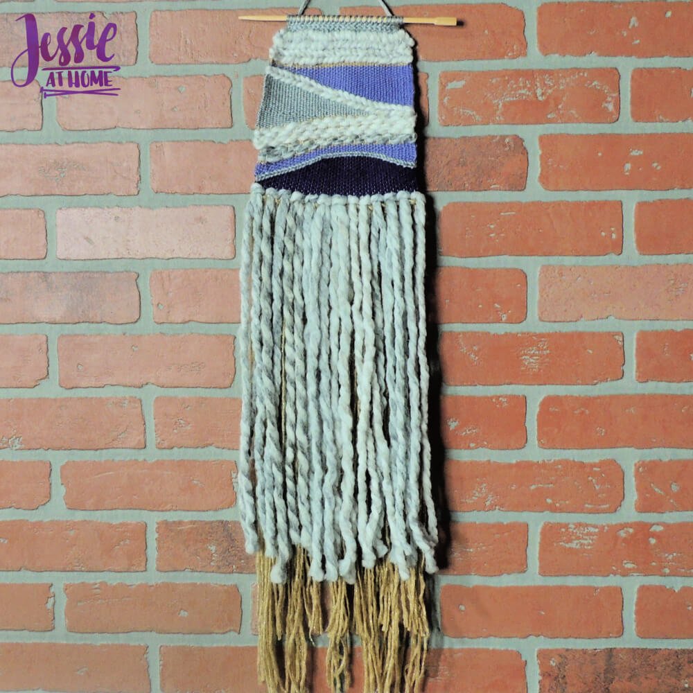 Woven Wall Hanging craft tutorial by Jessie At Home - all done