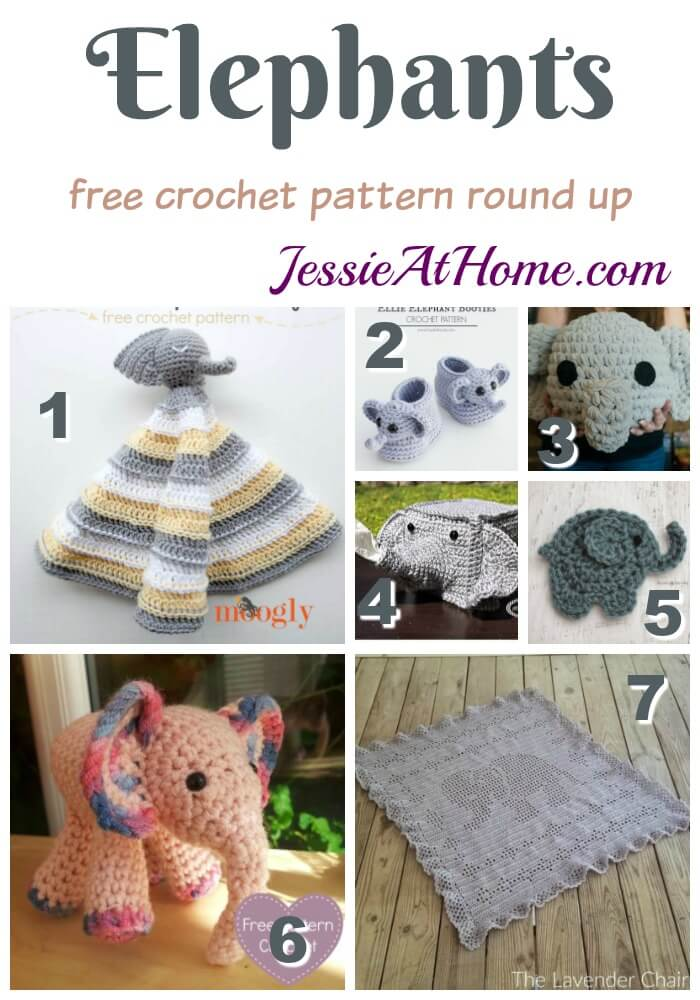 Elephant Free Crochet Pattern Round Up from Jessie At Home