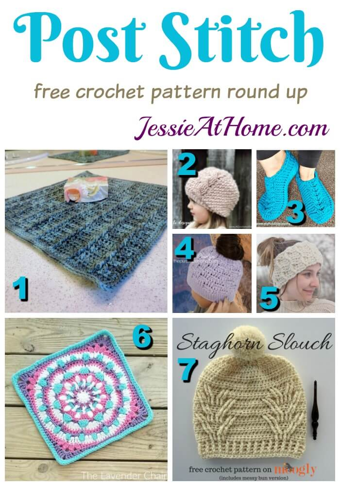 Post Stitch free crochet pattern round up from Jessie At Home