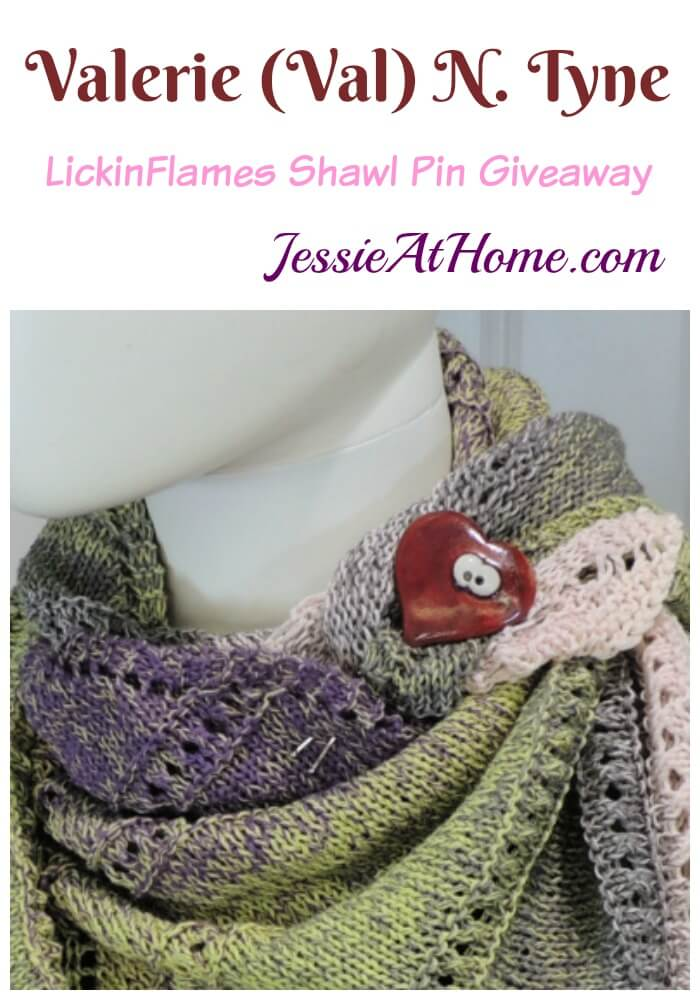 Valerie (Val) N. Tyne shawl pin by LickinFlames giveaway - Plus some fun ways to style your shawls!