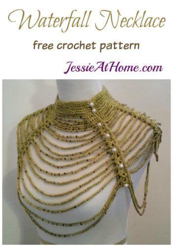 Waterfall Necklace free crochet pattern by Jessie At Home