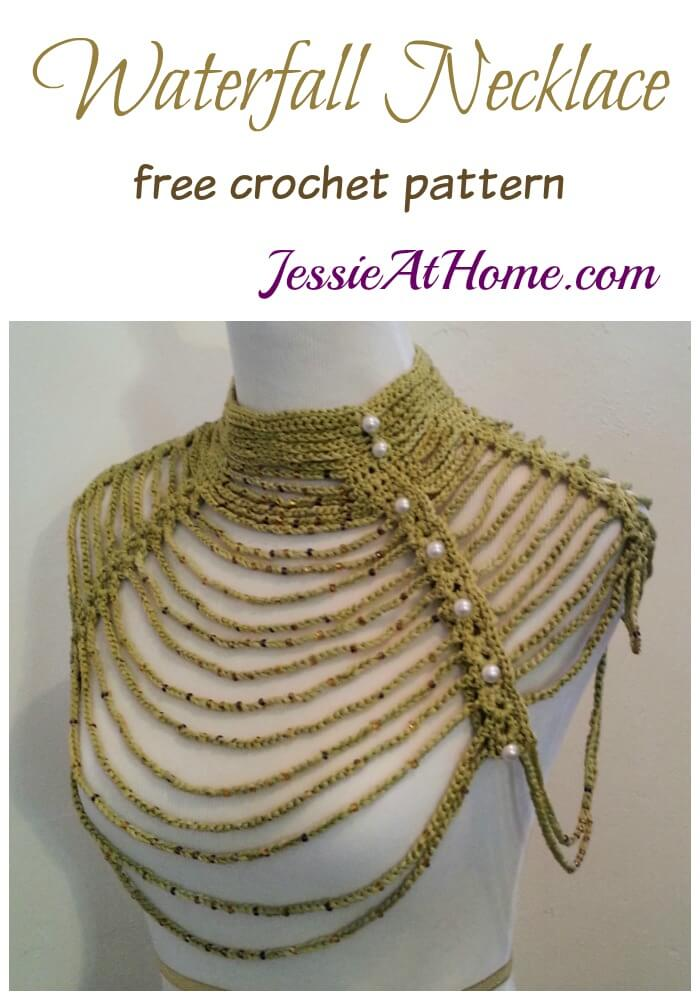 Waterfall Style Crochet Necklace
