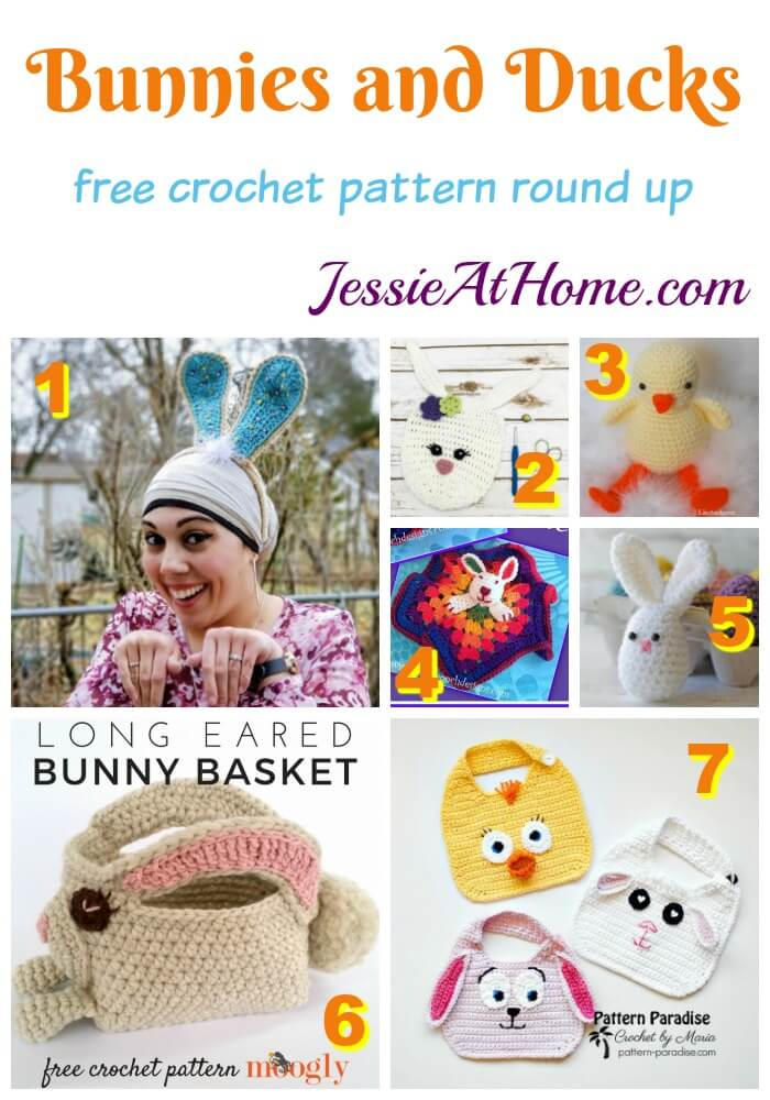Bunnies and Duck free crochet pattern round up from Jessie At Home