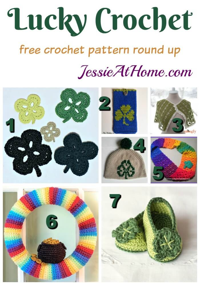 Lucky Crochet free crochet pattern round up from Jessie At Home