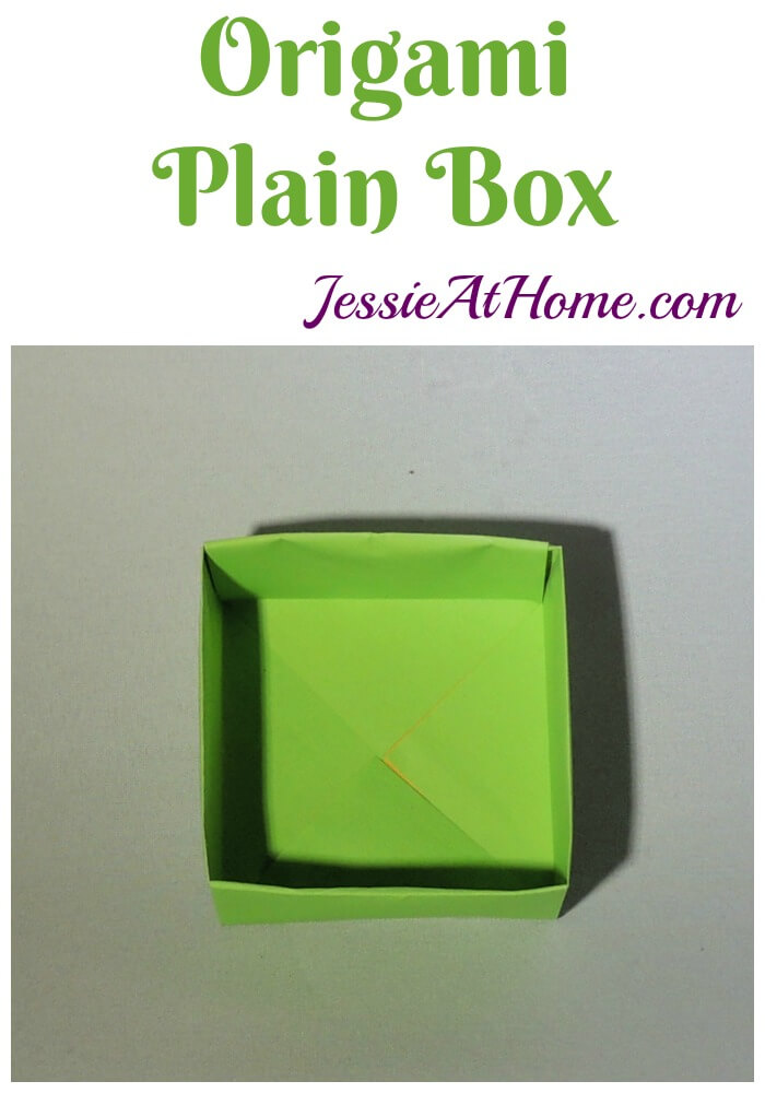 Origami Plain Box tutorial from Jessie At Home