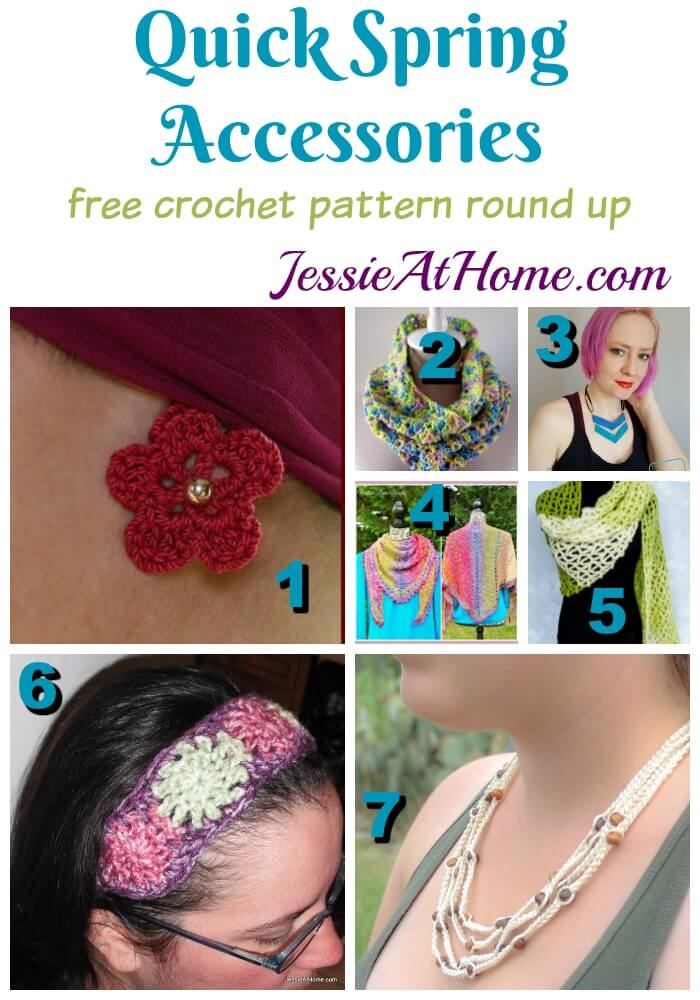 Quick Spring Accessories - free crochet pattern round up from Jessie At Home