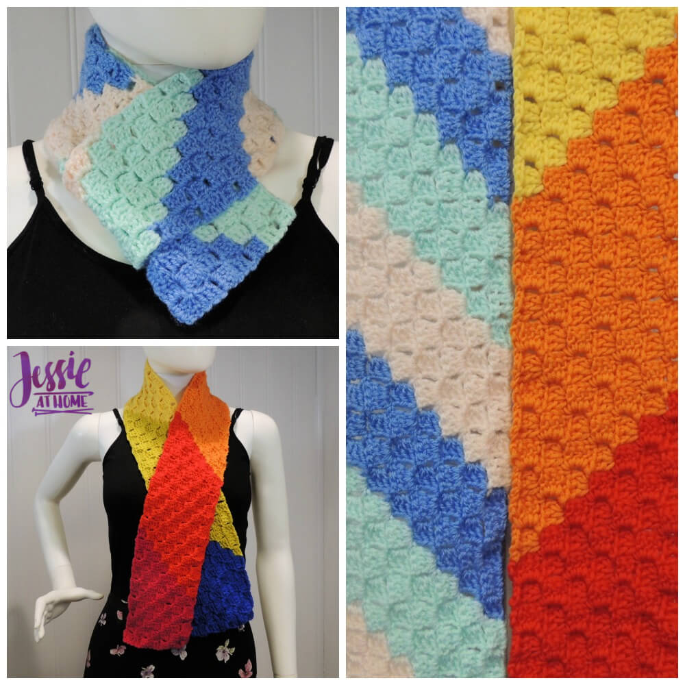 Scarf Squared - C2C Box Stitch free crochet pattern and tutorial by Jessie At Home - square