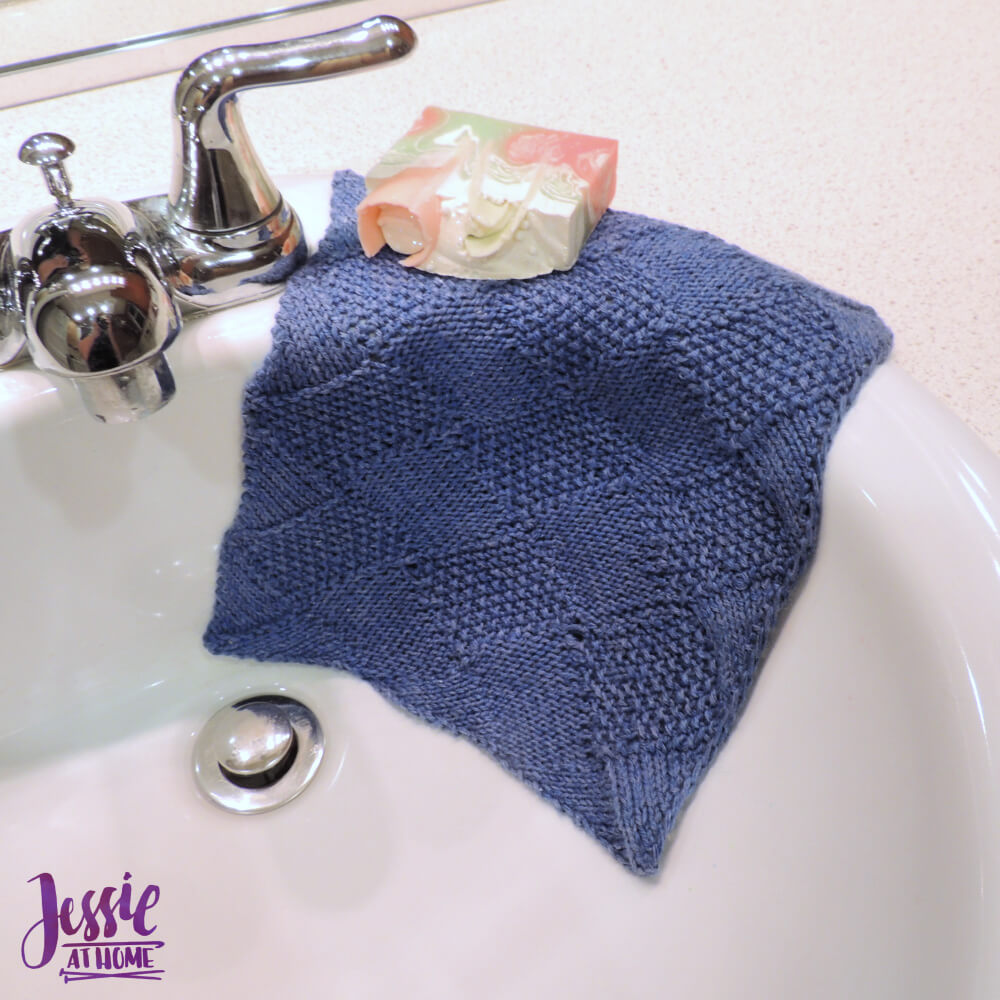 Seed Stitch Entrelac Washcloth free knit pattern by Jessie At Home - 1