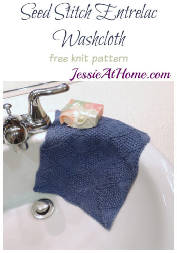 Seed Stitch Entrelac Washcloth free knit pattern by Jessie At Home
