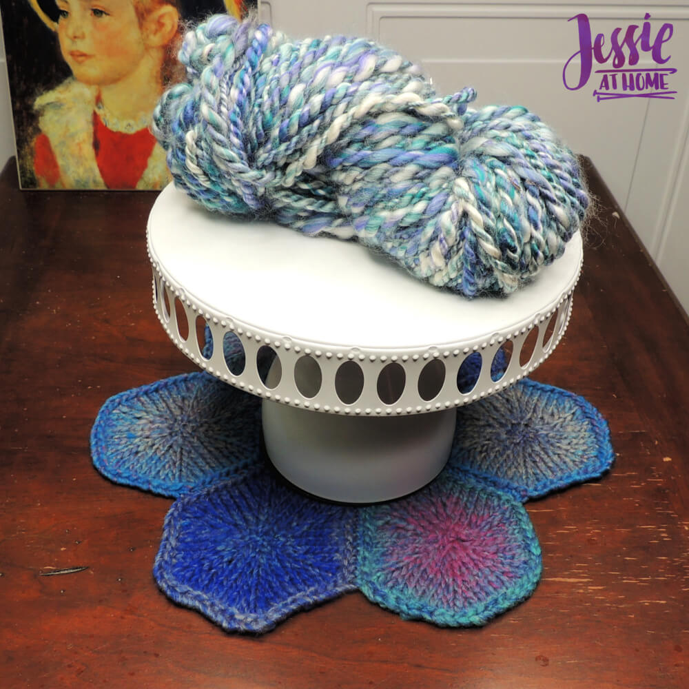 Hexagon Trivet free knit pattern by Jessie At Home - 1