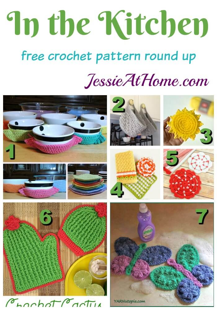 In the Kitchen - free crochet pattern round up from Jessie At Home