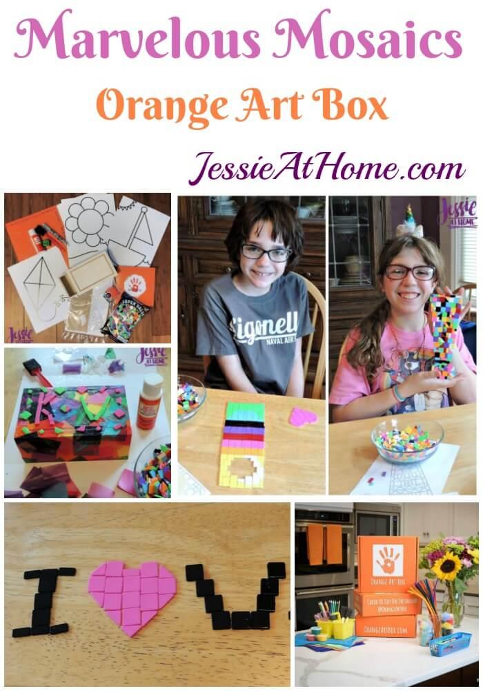 Marvelous Mosaics - April Orange Art Box Projects