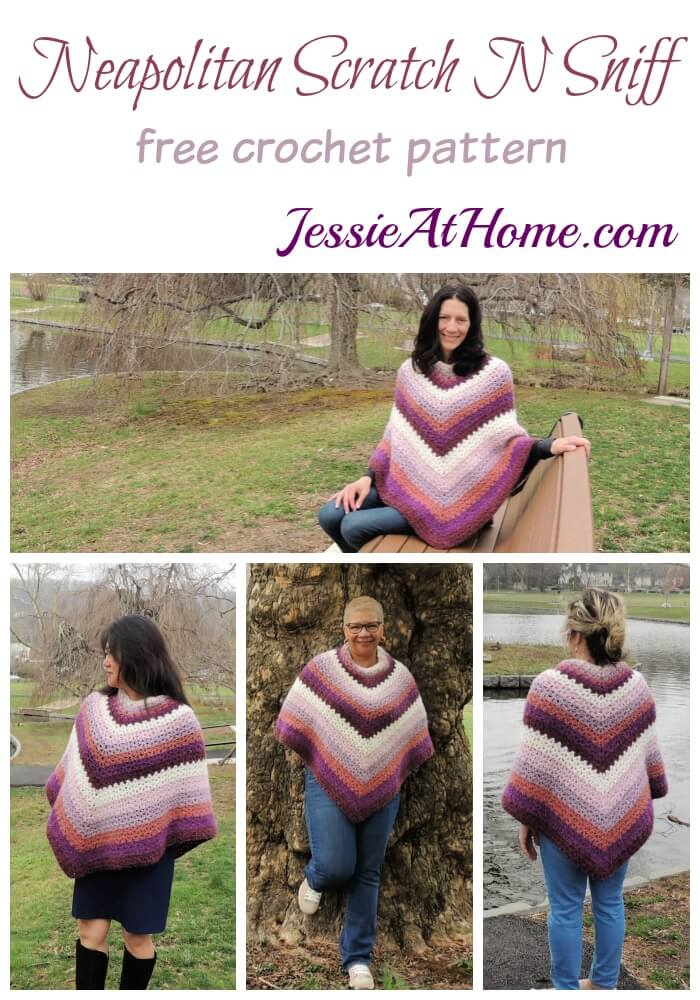 Neapolitan Scratch N Sniff free crochet pattern by Jessie At Home