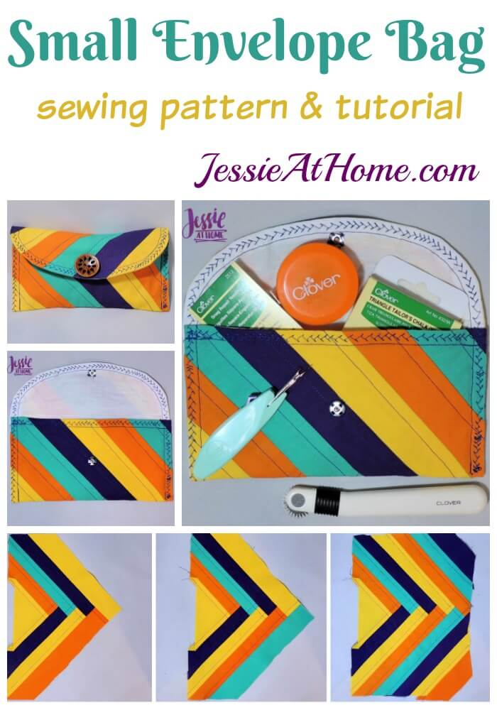 Small Envelope Bag - sewing pattern and tutorial by Jessie At Home