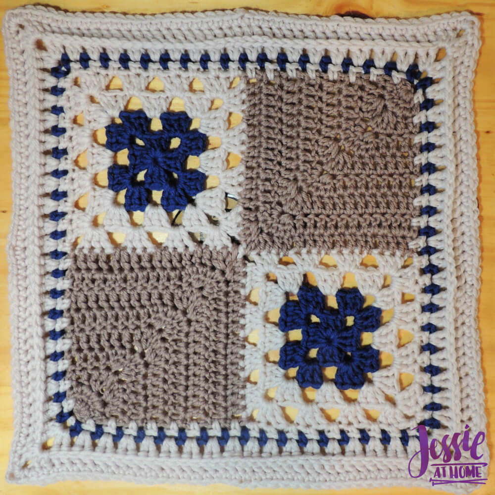 A Unique Granny Square Pattern for Allison - Squares and Miters - free crochet pattern by Jessie At Home - 1