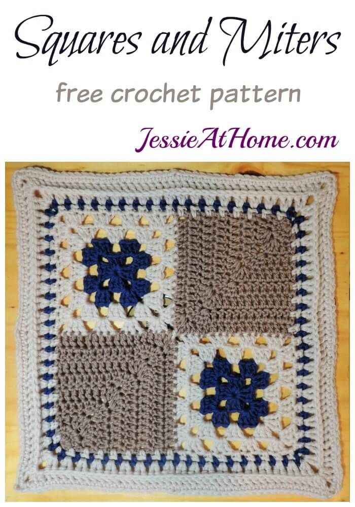 A Unique Granny Square Pattern for Allison - Squares and Miters - free crochet pattern by Jessie At Home