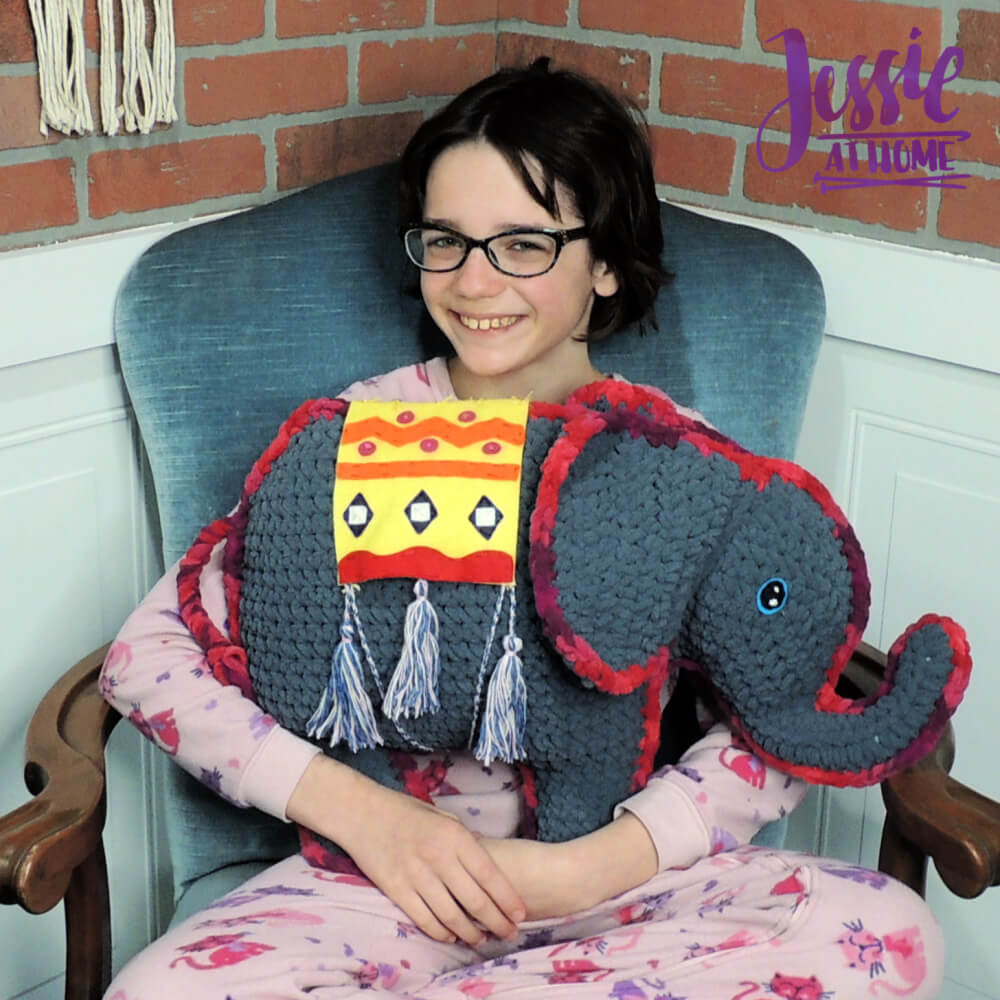 Amir the Elephant free crochet pattern by Jessie At Home - 1