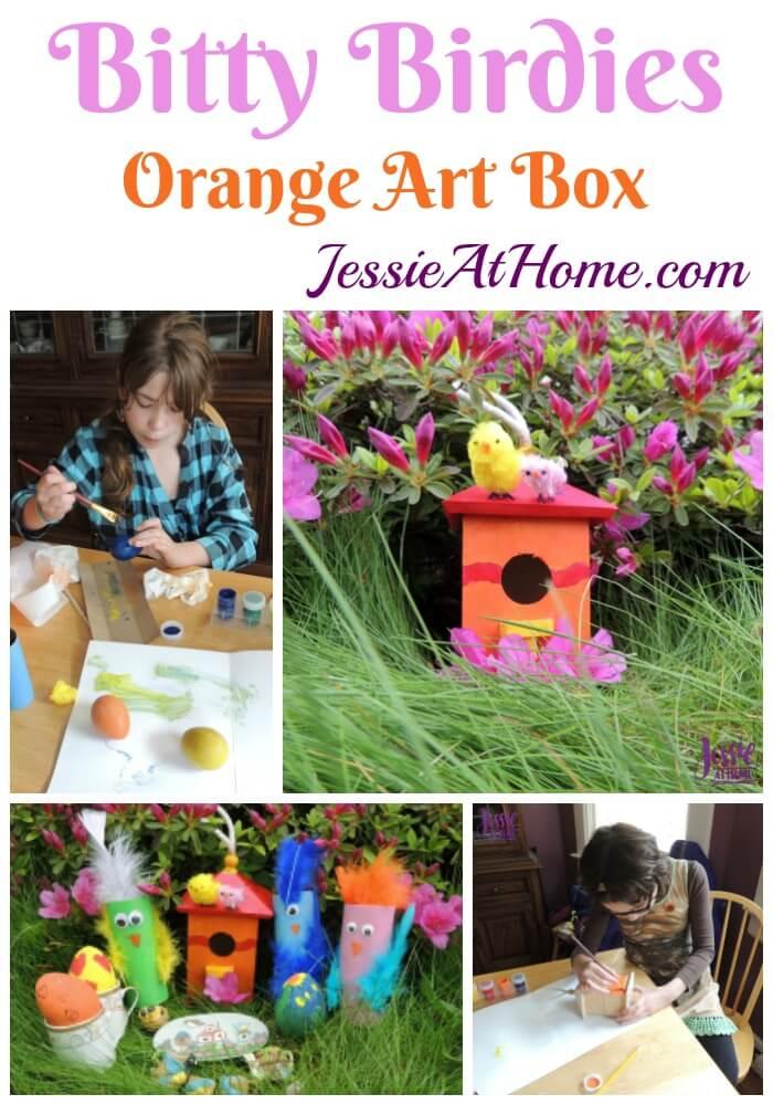 May Orange Art Box Projects - Bitty Birdies!