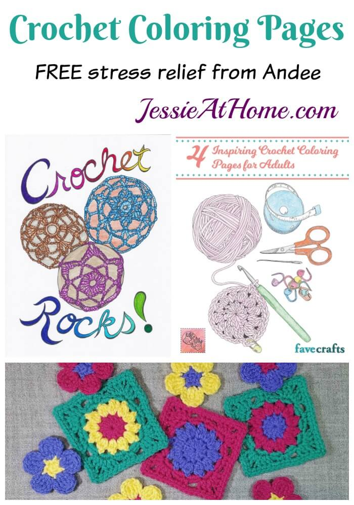Crochet Coloring Pages - FREE stress relief from Andee!