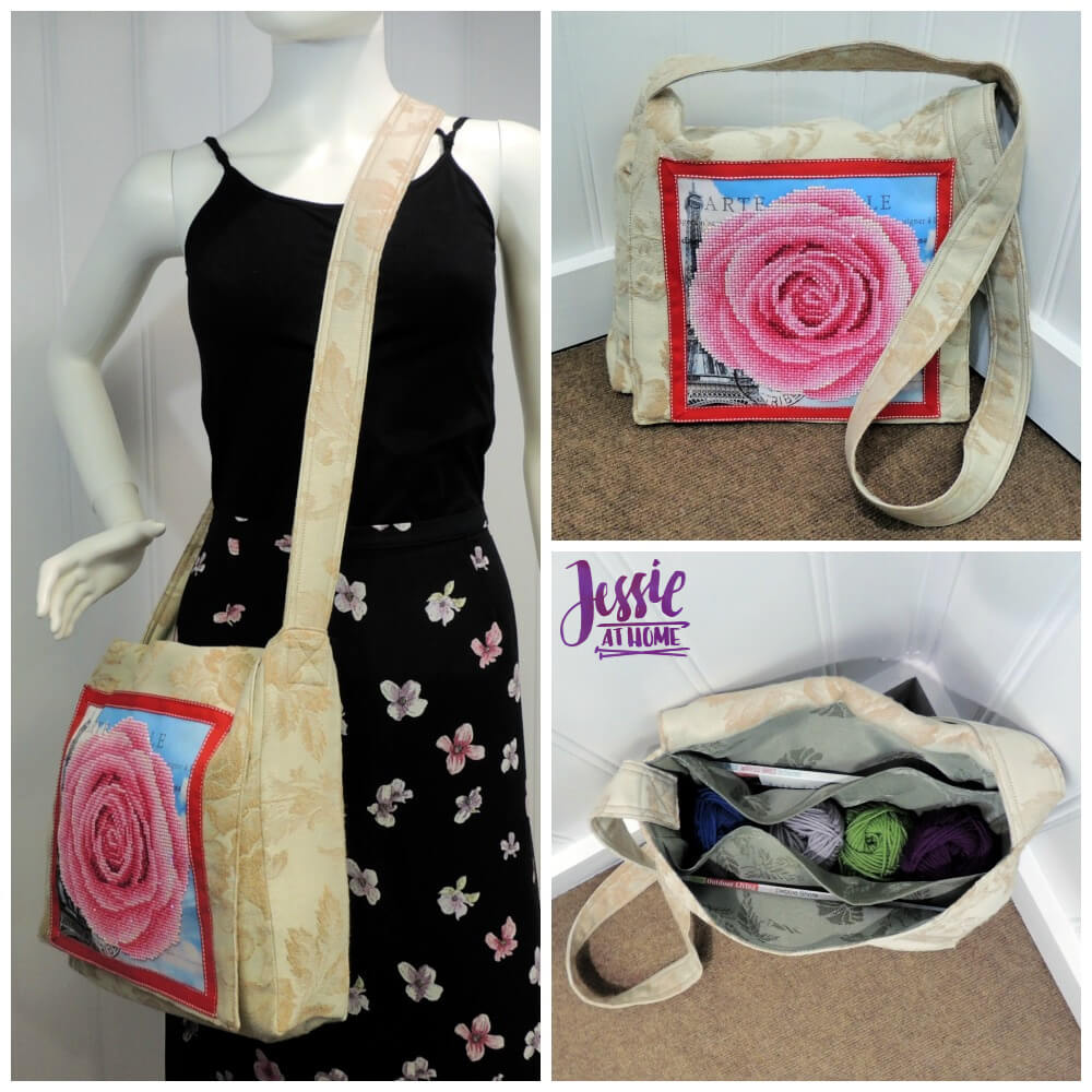Diamond Art Messenger Bag Sewing Tutorial by Jessie At Home - square