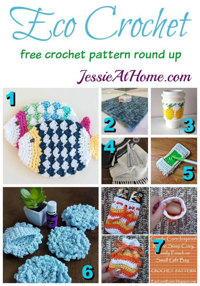 Eco Crochet free crochet pattern round up from Jessie At Home