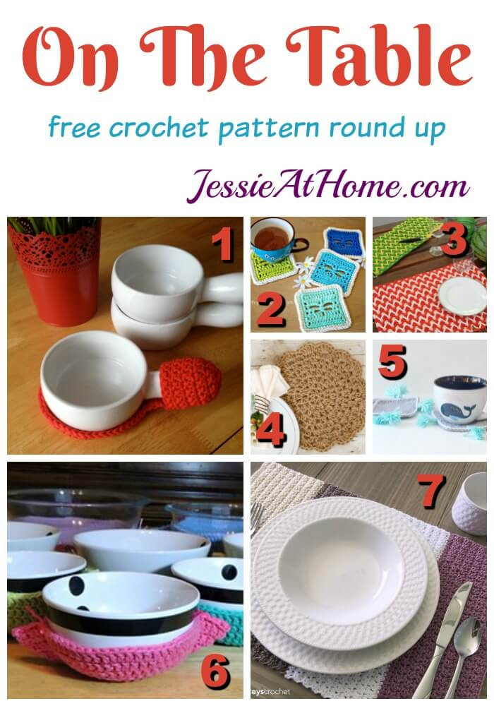 On the Table - crochet something pretty for your dining area!