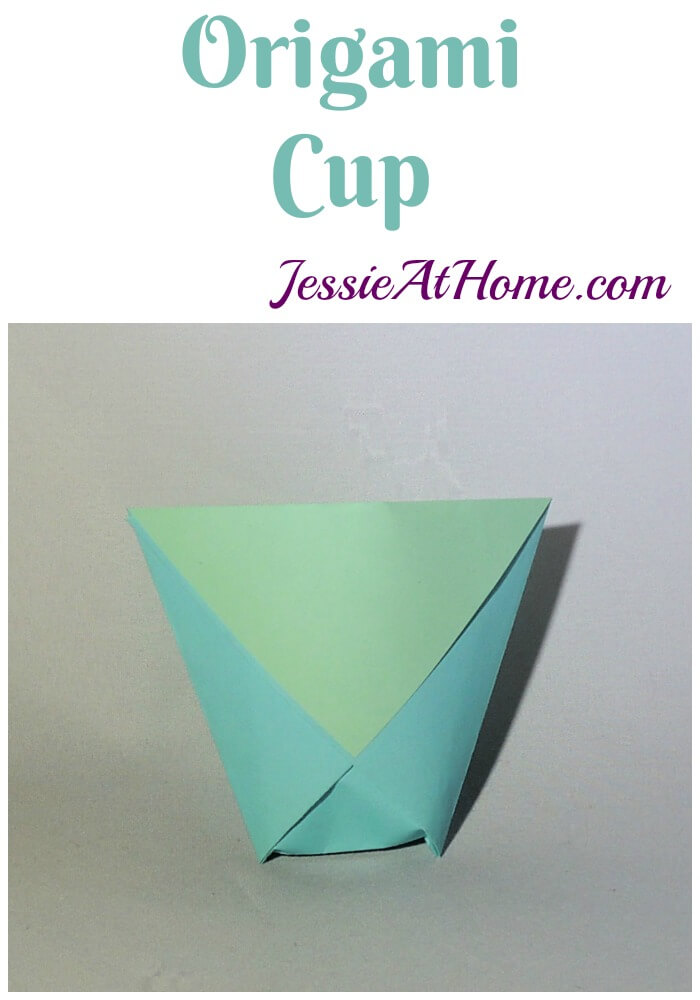 Origami Cup tutorial from Jessie At Home