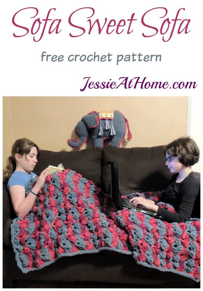 Sofa Sweet Sofa - a cozy crochet sofa throw by Jessie At Home