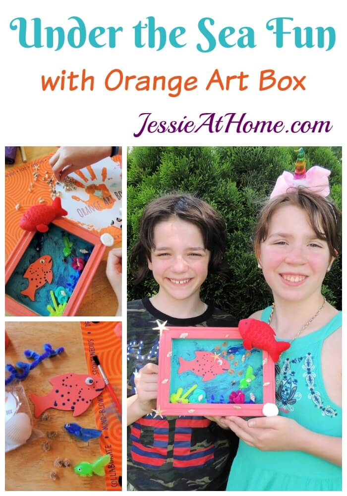 Under the Sea Fun with Kyla and Vada! June Orange Art Box Projects