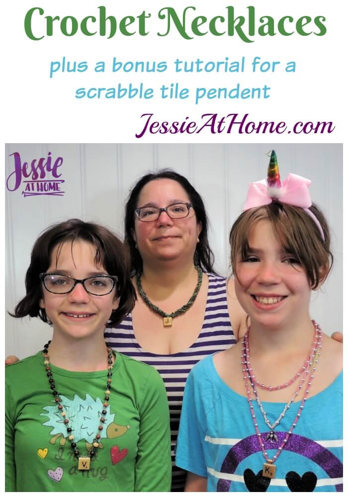 Crochet Necklace with Pendant - plus a Scrabble tile pendant tutorial from a crafty friend!