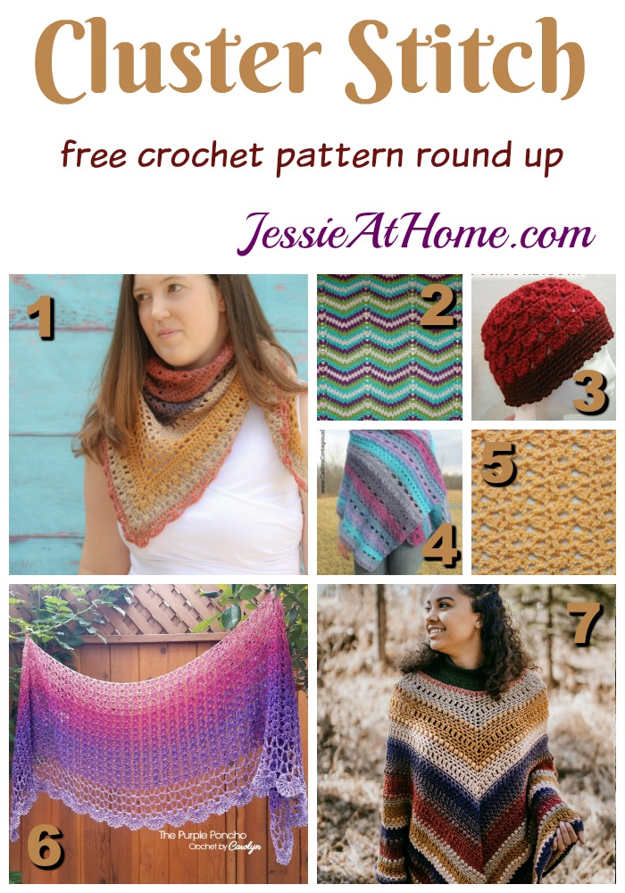 Double Crochet Cluster Stitch free crochet pattern round up from Jessie At Home