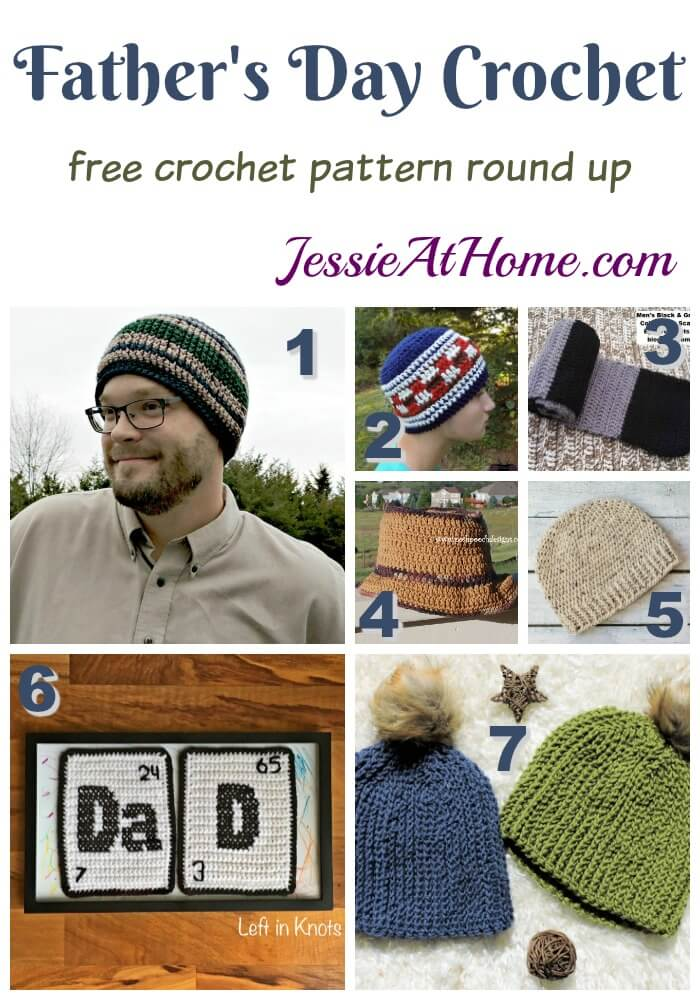 Fathers Day Crochet free crochet pattern round up from Jessie At Home