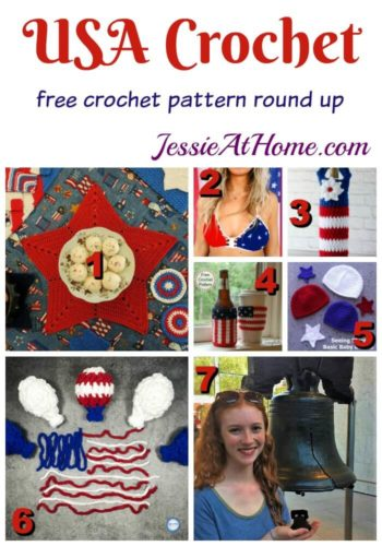 Free USA Crochet Pattern Round Up from Jessie At Home