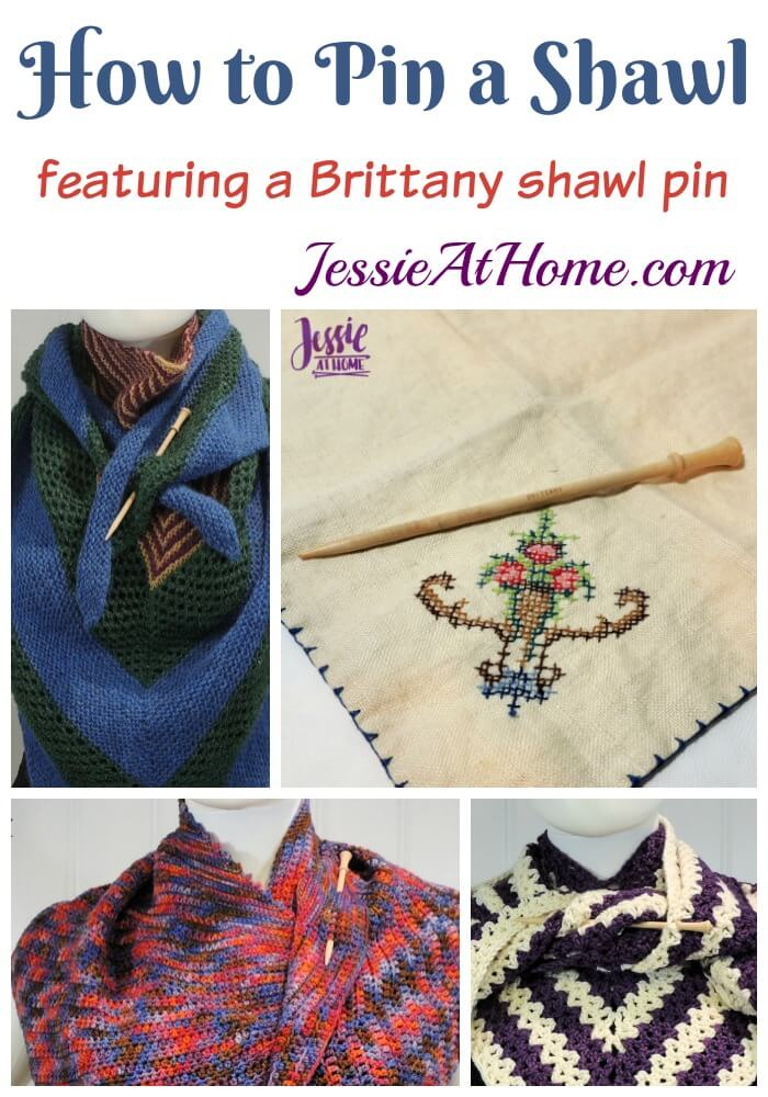 How to Pin a Shawl (or wrap, or scarf, or cape...) - Featuring a Brittany shawl pin